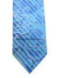 Cravate en soie de Paisley de bleu de ciel pour l'homme