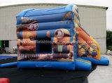 Diapositiva inflable combinada de la casa de la despedida del subordinado inflable del precio de fábrica, ciudad inflable de la diversión