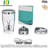 la bouteille en plastique du vortex 450ml avec petit MOQ, BPA libèrent la bouteille électrique en plastique de dispositif trembleur de protéine (HDP-0824)