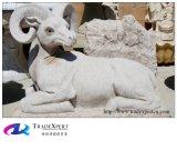 Natürlicher Granit-Stein-schnitzende Tierstatue/Skulptur
