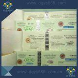 Biglietto invisibile UV di obbligazione della fibra