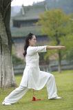 道教Taiのキーの女性のばね及び夏の亜麻のスポーツの服装