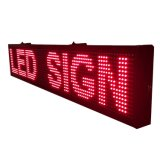P10 del color rojo de Semi-Outdoor Mensaje LED Display (Programable)