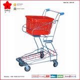 L'acier inoxydable Facile-Portent le chariot de chariot à achats de panier (OW-C5)