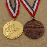 Do esporte feito sob encomenda da concessão da fábrica medalha Running da lembrança com fita feita sob encomenda