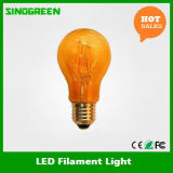 360度A60 4W Dimmable LED Filament Bulb Amber