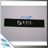 Escritura de la etiqueta/etiqueta tejida ropa al por mayor/escritura de la etiqueta de vestir modificada para requisitos particulares de la impresión