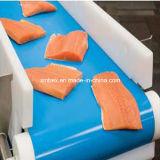 컨베이어 벨트가 FDA 음식 급료 파란 PU에 의하여 쐐기를 붙인다