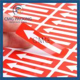 色刷の自己接着ペーパーステッカー(CMG-STR-004)が付いているペーパー