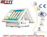 Hz-4680d máquina dupla do registo de dinheiro da tela de 15 polegadas