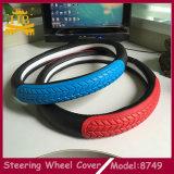 Buen látex material del nuevo diseño con la cubierta del volante del coche del cuero de la fibra