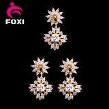Conjunto de joyas diseño de la flor del pendiente pendiente de novia de la boda