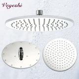 Chuveiro de chuva do banheiro da cabeça de chuveiro do aço inoxidável de 10 polegadas