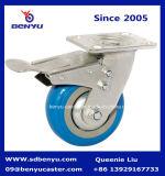 ヨーロッパ式の産業青PUの足車の車輪