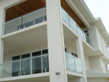 Tempered Clear Glass Railing с Aluminum Channel