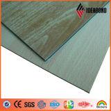 2mm-6mm 외부 건축 장식적인 벽 물자 나무로 되는 보기 ACP (IdeabondAE-302)