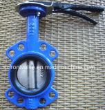 Válvula de borboleta macia do talão de assento do ferro de molde/ferro Ductile