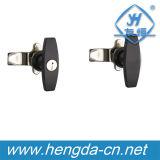 Замок кулачка Т-образной рукоятки шкафа сплава цинка с ключом (YH9676)