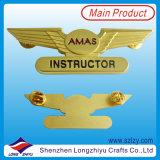 Малый значок металла эмали размера с логосом плакировкой золота