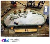 Cassetto di tè di pietra di scultura tradizionale di stile cinese con personalizzato