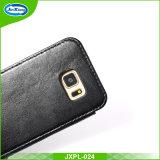 Новый случай кожи сотового телефона типа с владельцев карточки для Samsung S6