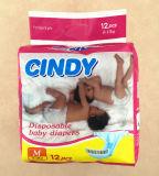 Weiße Baby-Windel ohne Drucken