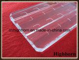 Panneau de polissage clair en verre de quartz de transformation plus ultérieure avec la cannelure