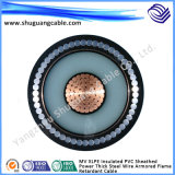 Medium Voltage Flame Retardant XLPE Insulation PVC Sheath Armored Electric Power Cable