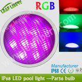 Luce della piscina dell'acciaio inossidabile PAR56 LED di RoHS del CE, lampadina subacquea