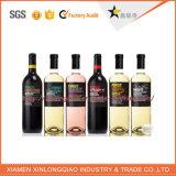 Collant estampé par modèle personnalisé de bouteille de vin de logo de vin, impression d'étiquette
