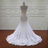 Robes de mariage nuptiales de vente de sirène de cru d'Applique chaud de lacet (XF1088)