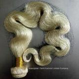 """24 """" cabelos louros da onda do corpo das extensões brasileiras do cabelo humano"""