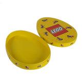 Caja de juguete rígida de la cartulina de la marca de fábrica oval