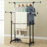 Сталь Двойн-Штанги DIY Extendable одевает Drying шкаф вешалки