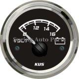 Voltmètre 12V 8-16V carré de la qualité 52mm avec le contre-jour