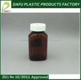 نقف علبيّة غطاء [160مل] مستطيل كهرمانيّة بلاستيكيّة الطبّ زجاجة