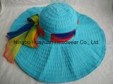 Sombrero grande de la cinta del estilo de la playa del borde