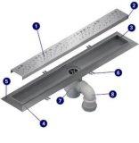 Dren de suelo linear de la ducha conveniente del acero inoxidable