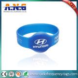 Wristband Satisfying del redondo RFID del silicio y pulseras de RFID para los conciertos y los acontecimientos