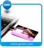 Flash feito sob encomenda do USB do cartão de crédito do logotipo 1GB