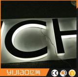 cartas puestas a contraluz metal montado en la pared 3D para hacer publicidad