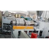 Estirador de tornillo gemelo cónico de la hoja sólida del PVC