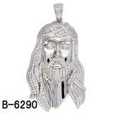 Monili 925 micro Jesus d'impostazione d'argento di Hip Hop Pendant per gli uomini