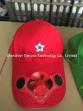 Promoção Presente Baseball Solar Energy Fan Cap Sport Hat