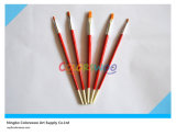 5PCS Wooden Handle Nylon Hair Artist Brush in pvc Bag voor Painting en Drawing