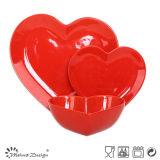 Sistema de cerámica de Tabelware del corazón romántico del amor