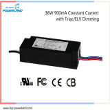 Salut-efficacité 36W 900mA courant constant Triac Dimmable LED Driver