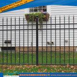 Clôture ornementale résidentielle en aluminium d'acier inoxydable