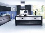 Gabinete de cozinha elegante do MDF do lustro elevado