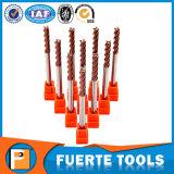 Moinho de extremidade liso do carboneto contínuo longo extra da flauta